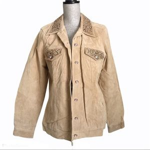Vintage Victor Costa Occasion Suede Leather Jacket